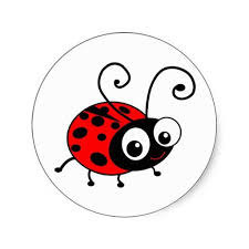 Cute Ladybug Classic Round Sticker | Zazzle.com (With images ...