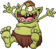 Fat troll illustration | Premium Vector