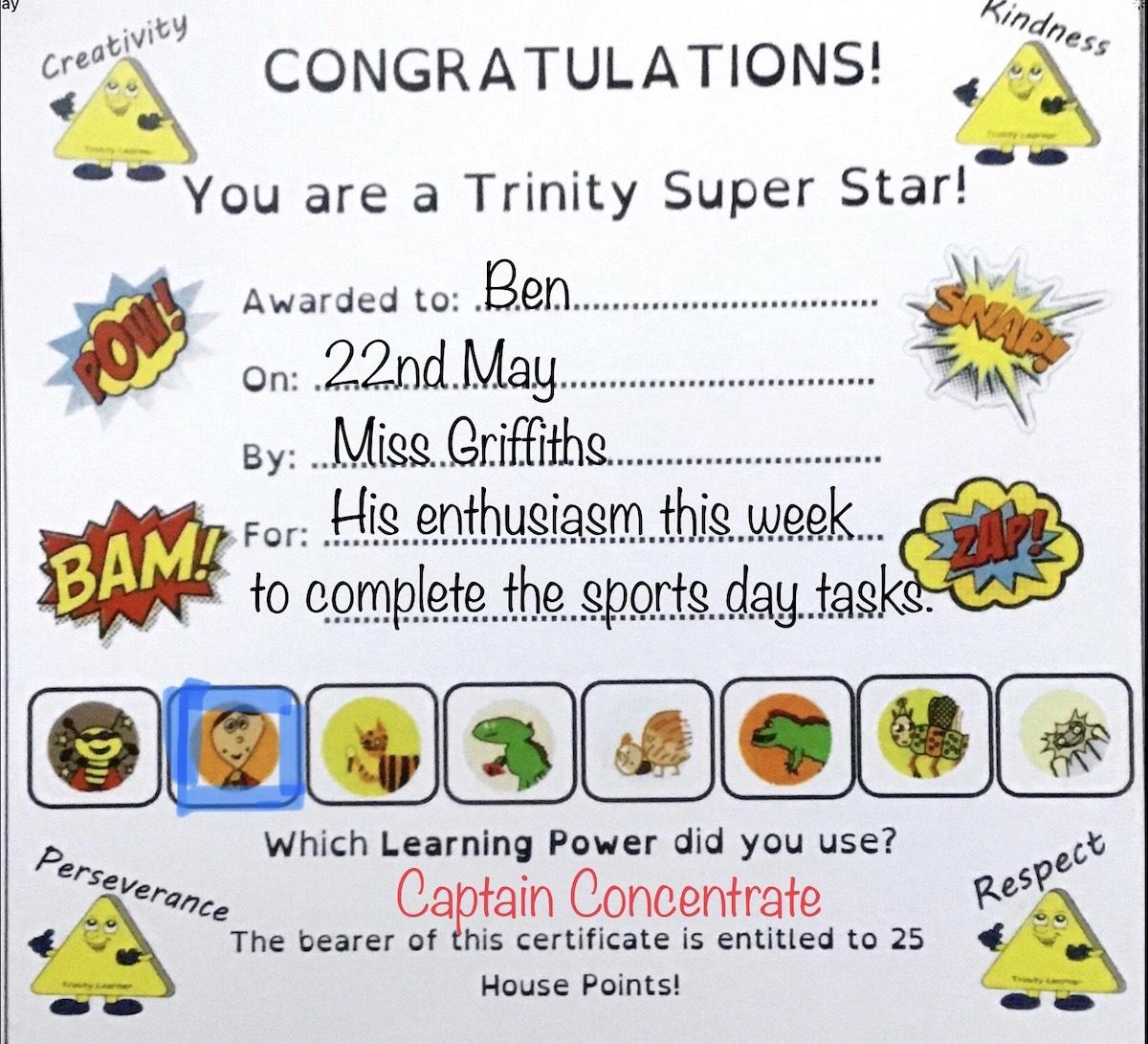 P5G - Ben's certificate