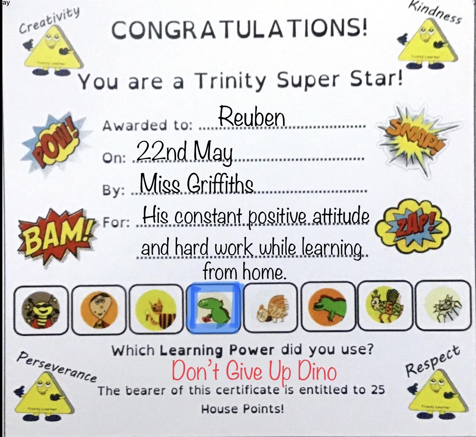 P5G - Reuben's certificate